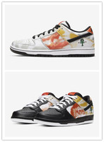 2020 Nova da X Mulheres SB Dunk Low Início Raygun Tie-Dye Dunks Longe Running Shoes Black White flash Casual Men Sports Sneakers Eur 36-44