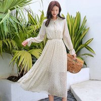 Women' s Chiffon Dresses with Broken Flowers New Korean ...