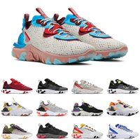 Nike Air Max React Vision homens mulheres React Element 87 55 tênis de corrida Light Bone Photon Dust Honeycomb Gravity Purple mens trainer outdoor sneakers