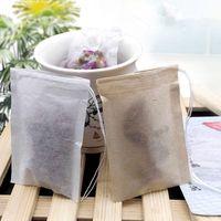 60 x 80mm madeira filtro pulpador de papel descartável filtro filtros saco único cordão cure selo selo sacos de chá sem Bleach EEE382