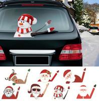 Decorações de Natal Santa Snowman Car Sticker Merry para Casa Enfeites de Xmas Navidad presentes Feliz ano 2021