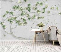 사용자 정의 사진을 3 차원 벽지 신선한 녹색 포도 나무 배경 거실 홈 인테리어 3D 벽 벽화 벽 3 일 동안 벽지