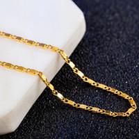 Nouveau gros haut Colliers d'or de la qualité de la chaîne Super Deal or chaîne Bijoux pour hommes Nouveau vide plaqué bijoux à la mode