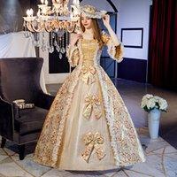Индивидуальные 2021 Весна Marie Antoinette День рождения Платье Платье Квадратный Воротник Средневековые Женские Бальные платья Театра Костюмы