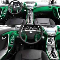 Per Hyundai Elantra MD 2012-2016 Interni Pannello di controllo centrale Pannello per porta in fibra di carbonio Adesivi Decalcomanie Auto Styling Accessorie