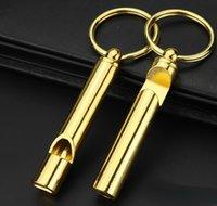 Портативный Brass Loud Версия Whistle Чрезвычайная Инструменты выживания брелок Свисток с пивом для бутылок Barware панели инструментов