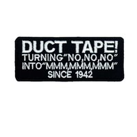 DUCT TAPE NAME TAGS punk embroidered iron on backing biker p...
