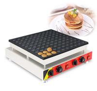 Non-Stick-Pan 110V 220V elektrische 100 stücke 4,5cm Poffertjes Mini Holland Pancake-Maschine