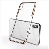 Caso de telefone claro suave para iPhone XSmax Covers Anti Casos de Telefone Celular Galvanoplastiado para iPhone 12 11 Pro Max7 8Plus