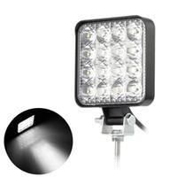 48w Quadrato 60 luce del lavoro di grado LED lampada di inondazione luce di azionamento, Jeep, Off-road, 4wd, 4x4, Sabbia rotaia, Atv, moto, bici della sporcizia, Bus