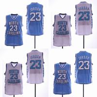 2019 Nouvelle Arrivée NCAA North Carolina Tar Talons 23 Michael Jersey College Maillots De Basket-ball Hommes Blanc Bleu Livraison Gratuite