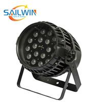 중국 Sailwin 18 * 10W 6in1 RGBAW + UV 줌 방수 LED 파 디스코에 대 한 무승부 빛 사용