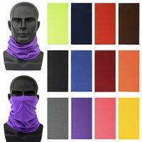 DHL della nave 100pcs 12 colori Bandane magico velo maschera di guida del tubo del fronte del collo foulard Sport magia fascia Bandana