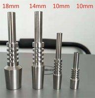 Glazen water rook metalen titanium nagel 10mm 14mm 18mm maat tip ti spijkers voor roken accessoires 14cz e19