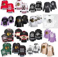 Индивидуальный 2020 Чикаго Блэкхокс Хоккей 64 Дэвид Kampf Джерси Мужчина 5 Коннор Мерфи 6 Мяяття 65 Andrew Shaw 22 Ryan Карпентера