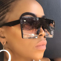 패션 오버 사이즈 스퀘어 선글라스 남성 여성 빈티지 여행 그라데이션 렌즈 선글라스 태양 안경 남성 빅 블랙 프레임 안경 2020 여름 남여