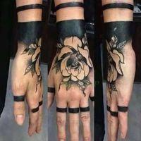 Водонепроницаемый Временные татуировки наклейки Роза другой цветок Поддельные Tatto флэш Tatoo рук Arm ног назад Тато искусство тела для женщин девушки мужчин