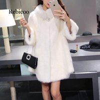 Faux Fur Coat Winter New Long Jacket Women Soft Fake Suede F...