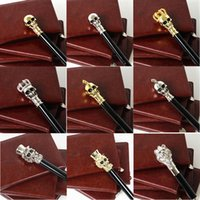 Astilla / dorado Mango largo Ghost Skull Black Umbrella, Sun Rain Umbrellas, Supercool Golf Walking Stick Umbrella