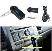 새로운 실제 스테레오 3.5 자동차 음악을위한 Blutooth 무선 오디오 블루투스 수신기 어댑터 AUX 3.5mm A2DP 헤드폰 리베버 잭 핸즈프리