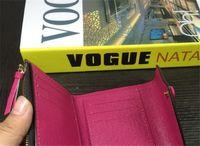 Rosalie Kadın Çanta Cüzdan Çanta Kahverengi Renkler Çantalar Kısa Çiçek Küçük Para Çanta Muti Toz Presbiyopi Dama Tahtası 41338 # Bean GFQLH