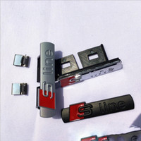 3D S 라인 A3 A4 B6 B8 B5 B7 사이드 펜더 마커 자동차 외부 액세서리에 대한 SLine 그릴 스포츠 엠블럼 배지 바디 데칼