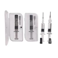 Yeni Clear Luer Lock Enjeksiyon Luer Baş Cam Şırınga 1ml ile Hediye Kutusu Paketi Bobin Jig Aracı İçin Kalın Yağı Vape Arabaları
