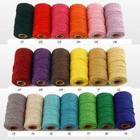 10 Rollos de algodón de 2 mm de Baker Twine 100 metros / rodillo de Colorfull algodón Cordel Cuerda para la decoración hecha a mano de Navidad envoltura de regalos