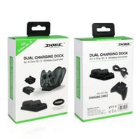 لاسلكي ثنائي شحن حوض المراقب شاحن 2PCS بطاريات قابلة للشحن عن XBOX ONE أفضل ثنائي شحن محطة شحن مجاني