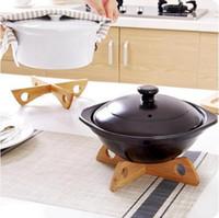Plateau Grille En Bois Détachable Table Tapis Cuisine Pot Chaleur Isolé Plaque De Refroidissement Poches Gadget Titulaire GB697