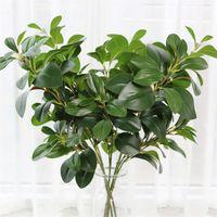Одноместный стебель Peppermint листьев ветви симуляции зеленый перец деревьев стебли зеленая стена декоративное искусственное зеленое растение