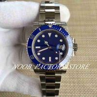최고의 공장 V8 블루 다이얼 자동 Eta 2813 운동 블루 세라믹 베젤 발광 달력 다이빙 손목 시계 원래 상자