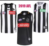 2019 Collingwood Magpies Wiste Jersey Eddie Betts 300-я без рукавов Collingwood сороги австралийские правила футбола AFL трикотажные рубашки