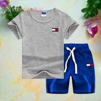 T0MY Little Kids Sets 2- 7T Childrens O- neck T- shirt Short Pa...