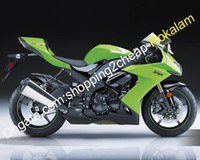ABS Complete Fairing ZX-10R 08 09 10 For Kawasaki Ninja ZX10R Green Black Motorcycle Fairings Kit 2008 2009 2010 (Injection molding)