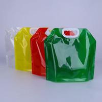 5L garrafas portáteis de água dobrável Water Container dobrável Folding Água potável sacola para Outdoor Camping Caminhadas Picnic