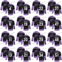 20 Sebastian Aho 2020 Combattimenti Hockey Cancer Carolina Hurricanes 21 Nino Niederreiter Warren Foegele Staal Joel Edmundson Haydn Fleury Jersey
