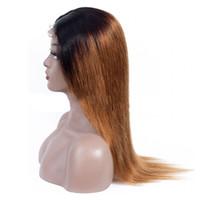 180% плотность OMBRE 1B / 30 4x4 кружевное закрытие волос для волос человеческих волос предварительно сорванные безразличны кружевные парики бразильские девственницы