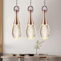 Simples modernos levou restaurante lustre de cristal pub café lâmpadas garrafa bolha perfume bar lustre stjx17 iluminação criativa