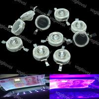 Световые бусины 3W высокая мощность светодиодный ультрафиолет диод 395 нм 400 нм 365 нм 370 нм фиолетовый ультрафиолетовый для медицинской стерилизации ногтей