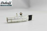 Silber Überzogene Dukoff Metall Mundstück Für Alto Tenor Sopransaxophon Messing Material Hohe Qualität Musikinstrument Zubehör Größe 5 6 7