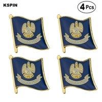 A.B.D Louisiana Bayrağı Pin Yaka Pin Badge Broş Simgeler 4PC