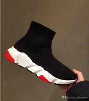 горячая бренд дизайнер кроссовки Air носок ботинки скорости тренер мужчины женщины мода высокое качество тройной с корзинами гоночный раннер суперзвезд обувь