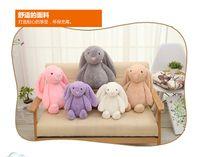 5 cores 30cm coelho brinquedos macios Bunny boneca de páscoa coelho brinquedo de pelúcia com orelhas compridas animais de pelúcia crianças brinquedos presente atacado