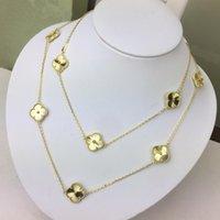 Новый изысканный клевер вырезанный 18K золотой свитер ожерелье для женщин модный бренд дизайнер ювелирных изделий для женщины