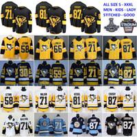 Homens Crianças Mulheres Pittsburgh Penguins Sidney Crosby Jerseys Evgeni Malkin Kris Letang Carl Hagelin Mario Lemieux Patric HornQvist Jake Guentzel