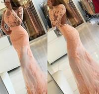파티 드레스 est 긴 소매 백리스 댄스 파티 드레스 레이스 공식 휴일 착용 졸업 저녁 가운 사용자 정의 만든 플러스 크기