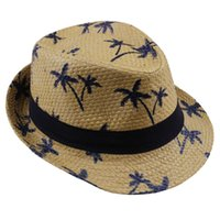2019 Горячая распродажа летняя солома солнцезащитная шляпа дети пляж солнца шляпа трилби панама шляпа ручная работа для мальчика девочка детей 4 цвета