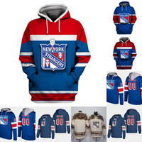 New York Rangers Hoodie Jersey Hombre 20 Chris Kreider 26 Jimmy Vesey 30 Henrik Lundqvist 76 Brady Skjei 93 Mika Zibanejad camisetas de hockey