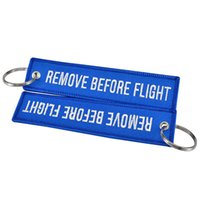 68f2e34386 Remove Before Flight Key Chain Trendy Keyring Men Women Embroidery  Polyester Fabric Key Protector Commemorative Keychain Buckle RRA413